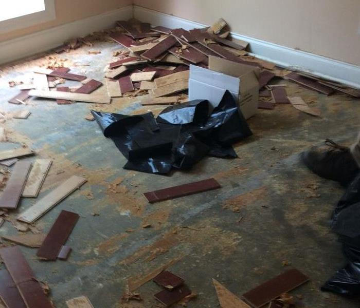 Water Damage to the Floor After